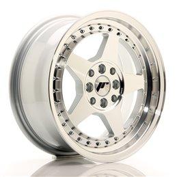 JR Wheels JR6 15x7 ET25 4x100/108 Argent Face Polie
