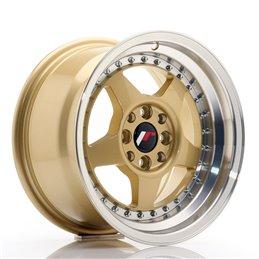 JR Wheels JR6 15x8 ET25 4x100/108 Or / Bord Poli