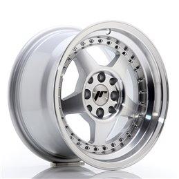 JR Wheels JR6 15x8 ET25 4x100/108 Argent Face Polie