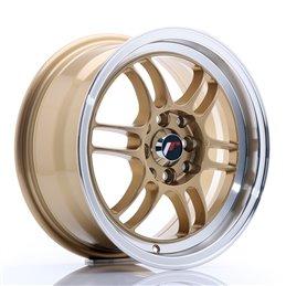 JR Wheels JR7 15x7 ET38 4x100/114.3 Or / Bord Poli