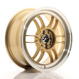JR Wheels JR7 16x7 ET38 4x100/114.3 Or / Bord Poli