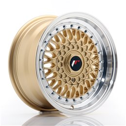 JR Wheels JR9 15x7 ET20 4x100/108 Or / Bord Poli