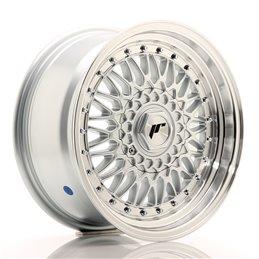 JR Wheels JR9 16x7.5 ET25 4x100/108 Argent / Bord Poli+Argent Rivets