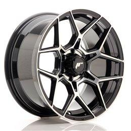 JR Wheels JRX9 18x9 ET18 6x114.3 Noir Brillant Face Polie