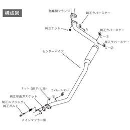 Intermédiaire d'Echappement HKS Honda Honda Fit / Jazz GE8