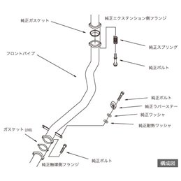 Downpipe HKS Mitsubishi Lancer Evo 8