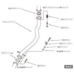 Downpipe HKS Mitsubishi Lancer Evo 9