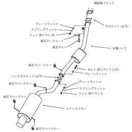 """Ligne d'Echappement HKS """"Silent Hi-Power"""" Nissan Silvia S15"""