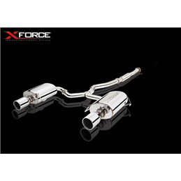 Silencieux et Intermédiaire Inox 76mm avec silencieux ovale double face Subaru Legacy GT 2004-2009