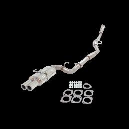 Ligne Echappement Inox 76mm 409 avec double silencieux ovale Nissan 240sx (s14) 1995-1998